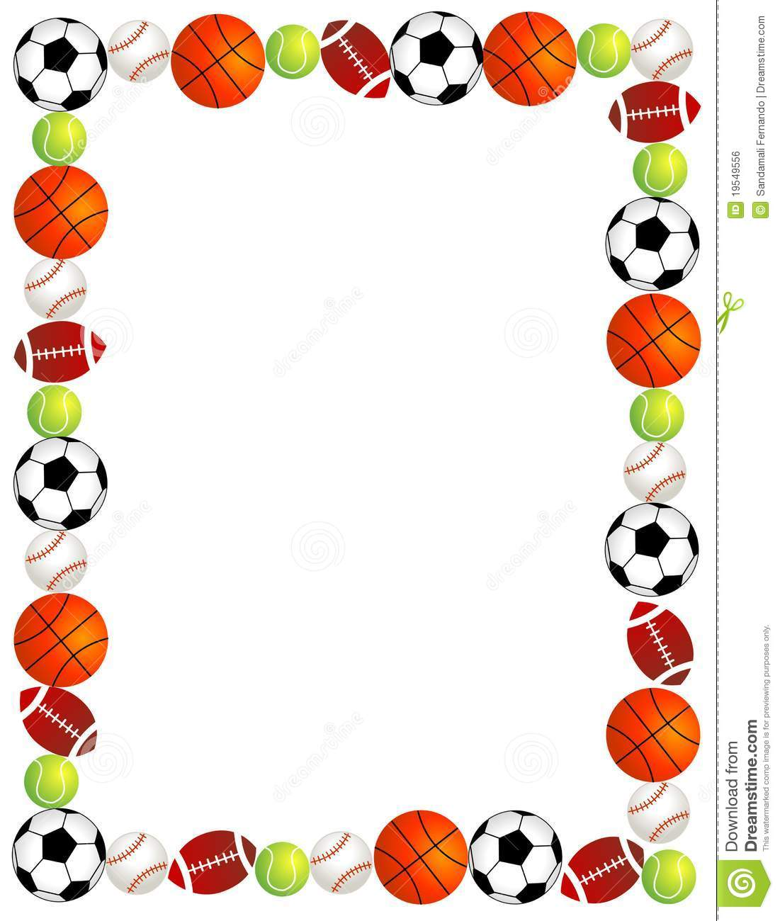 1101x1300 Sports Borders Clipart Panda