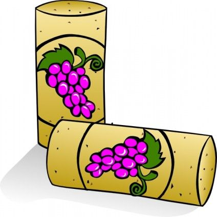 424x425 Wine Corks Clip Art Free Vector In Open Office Drawing Svg ( Svg