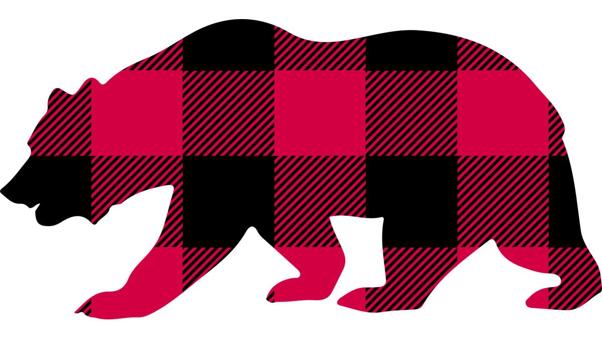 1200x675 Buffalo Plaid Bear T Shirt By Heartlocked Design By Humans