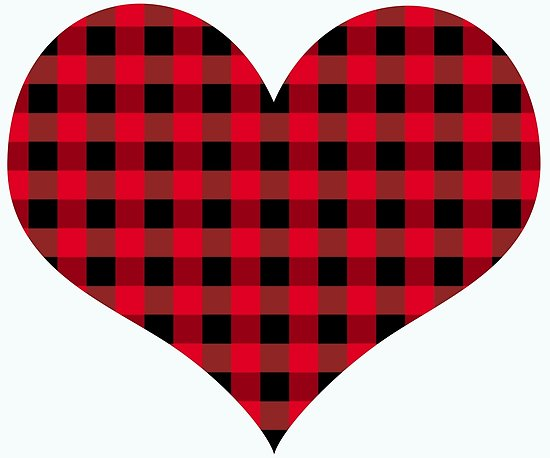 550x458 Buffalo Plaid Heart Posters By Rlnielsen4 Redbubble