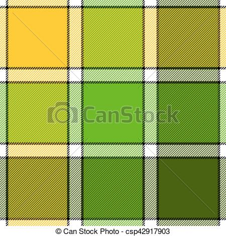 450x470 Lime Color Check Plaid Seamless Pattern. Vector Vector Clipart
