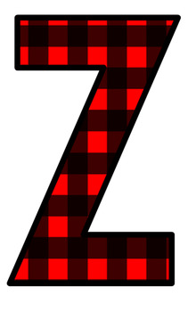 220x350 Lumberjack Red Plaid Letters Clip Art By Reading With Mrs D Tpt