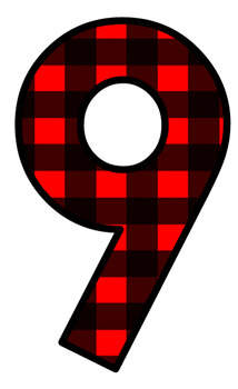 214x350 Lumberjack Red Plaid Numbers Clip Art By Reading With Mrs D Tpt