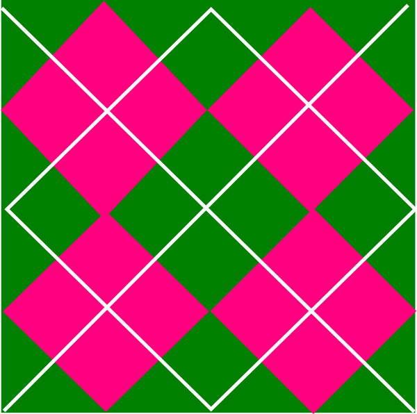 600x596 Pink Amp Green Plaid Clip Art