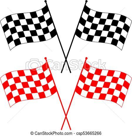 450x462 Race Flag Various Designs, Vinyl Ready Vector Illustration Clip