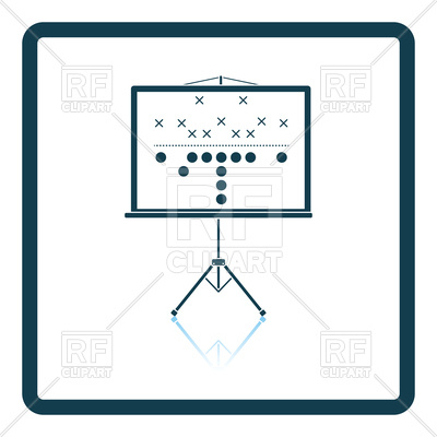400x400 American Football Game Plan Stand Icon Royalty Free Vector Clip