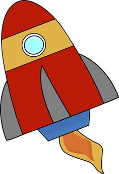 236x343 Free Clip Art Of A Cute Red Retro Space Rocket Sweet Clip Art