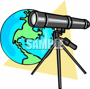 300x296 A Telescope And Planet Earth