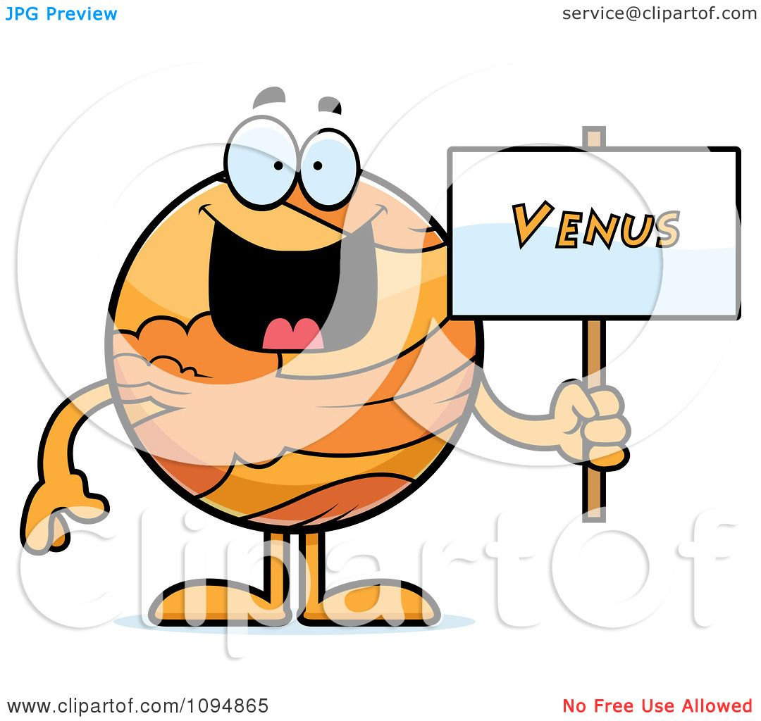1080x1024 Clipart Planet Venus Holding A Sign