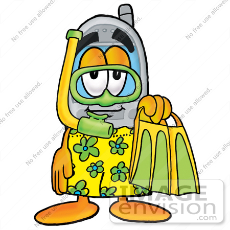 450x450 Clip Art Graphic Of A Gray Cell Phone Cartoon Character In Green