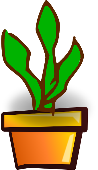 342x593 House Plant Clip Art