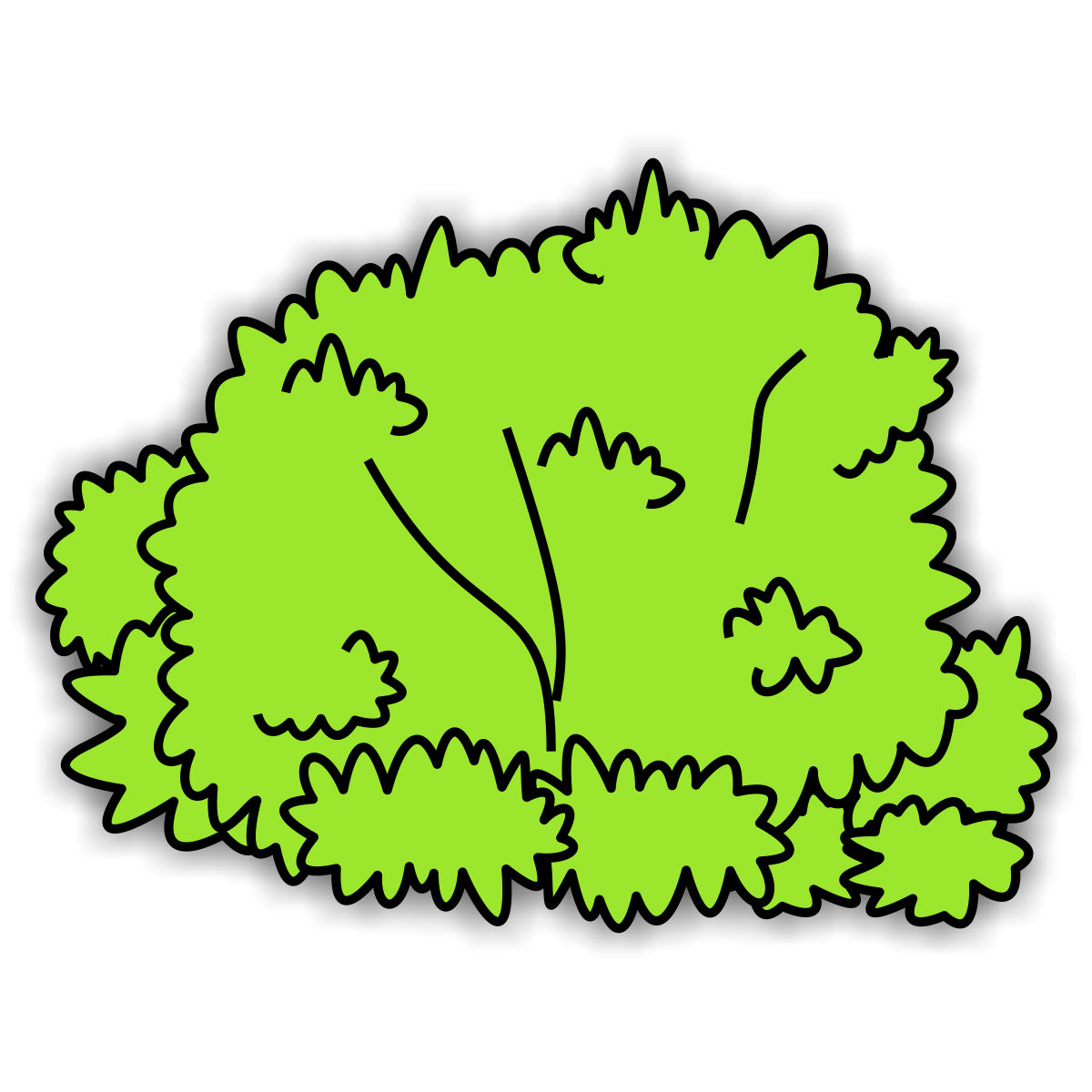1200x1200 Lofty Bush Clipart Clip Art Of A With Berries On It