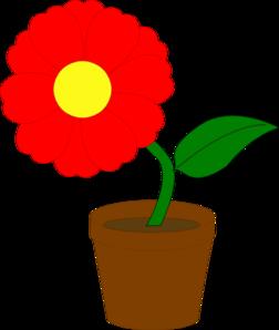 252x298 Red Flower Clip Art