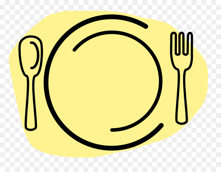 900x700 Plate Dinner Fork Spoon Clip Art