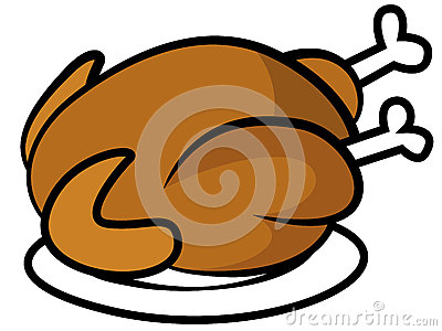 400x300 Chicken On A Plate Clipart