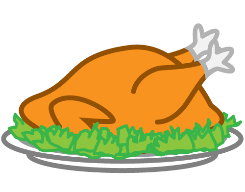 500x392 Cooked Turkey Clipart Free Images