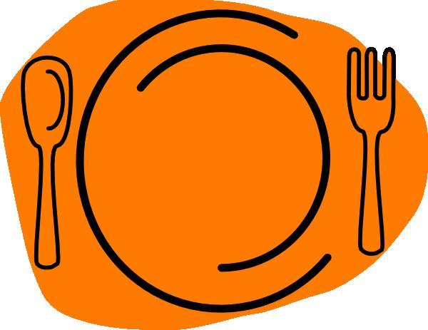 600x463 Orange Plate Clip Art