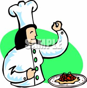 295x300 A Chef With A Plate Of Food