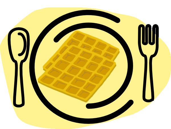 600x454 Waffle Plate Fork Clip Art