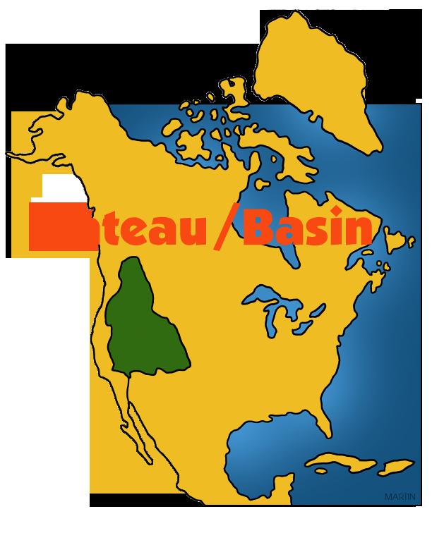 612x756 Native Americans Clip Art By Phillip Martin, Plateau Basin Map