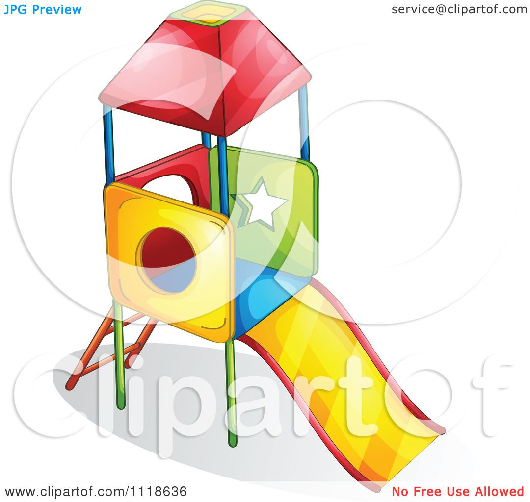 1080x1024 Vector Clipart Of A Colorful Playground Slide