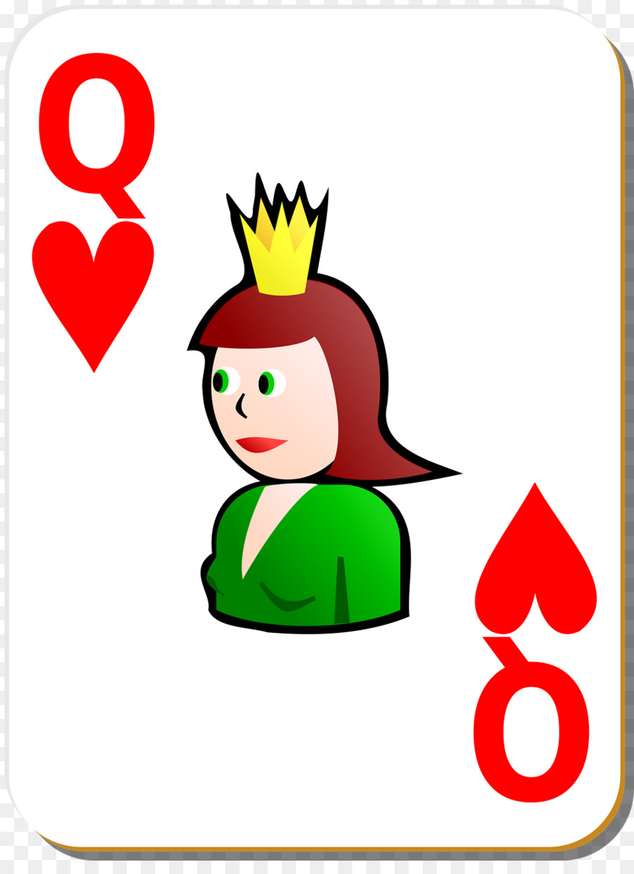 900x1240 Queen Of Hearts Playing Card Clip Art