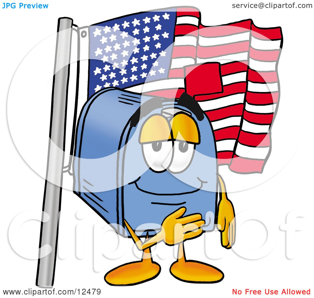 1080x1024 Clipart Picture Of A Blue Postal Mailbox Cartoon Character