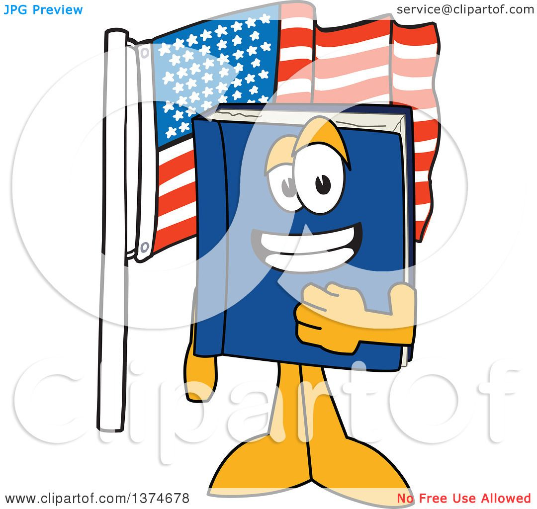 1080x1024 Clipart Of A Blue Book Mascot Character Pledging Allegiance By