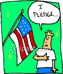 255x300 A Boy Saying The Pledge Of Allegiance Royalty Free Clipart Picture