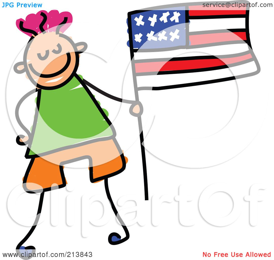 1080x1024 American Flag Clipart Little