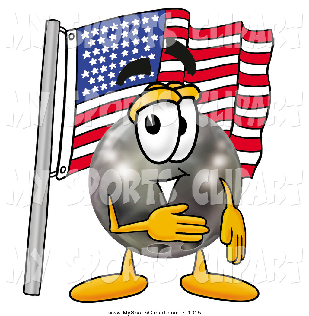 1024x1044 Sports Clip Art Of A Patriotic Happy Bowling Ball Mascot Cartoon