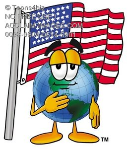 258x300 Stock Clipart Image Of A Cartoon Globe Character Saying