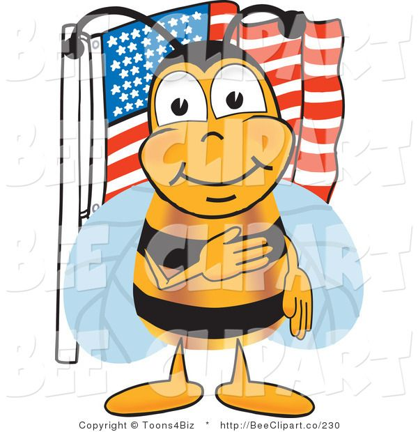 600x620 Bee Science Clipart Clip Art Of A Bumble Bee Giving The Pledge