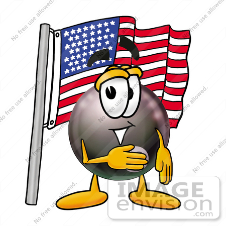 450x450 Clip Art Graphic Of A Billiards Eight Ball Cartoon Character
