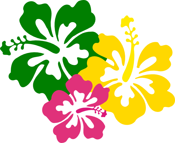 600x492 Hibiscus Flowers 2 Clip Art