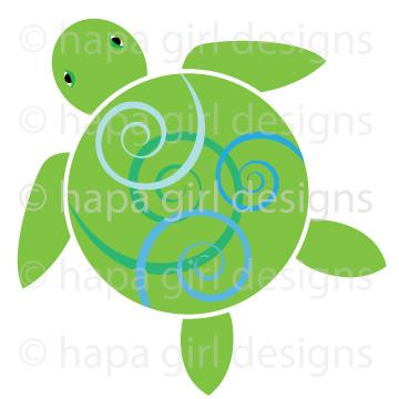 360x360 Sea Turtle Swirls Clip Art Plumeria Prints