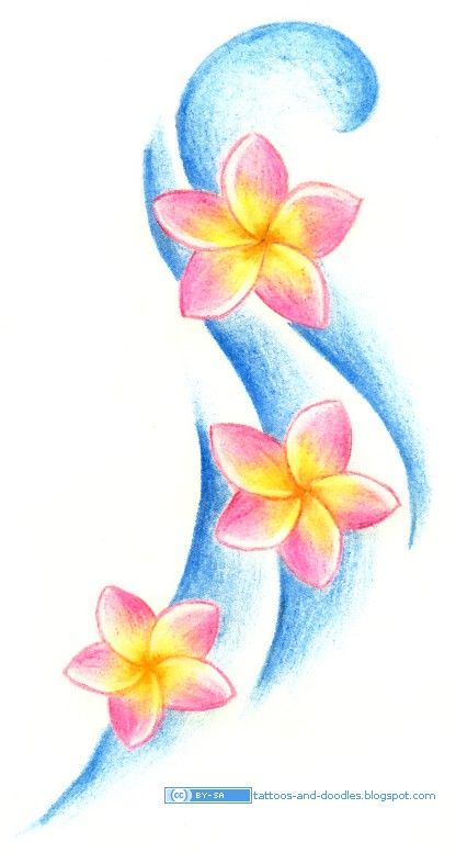 416x777 Tattoos And Doodles Plumeria Frangipani Flowers Flowers