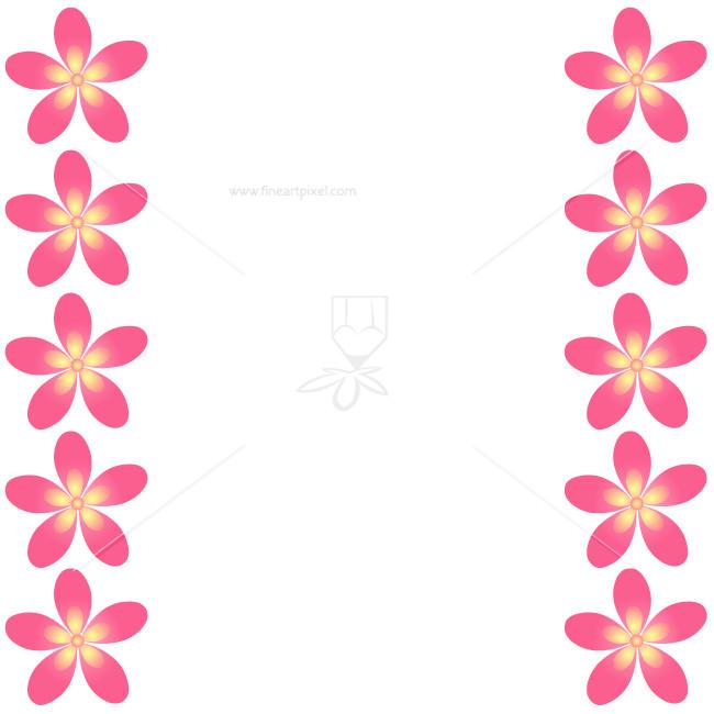 650x650 Plumeria Flower Border Free Vectors, Illustrations, Graphics