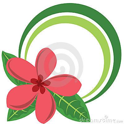 400x400 Plumeria Flower Clip Art