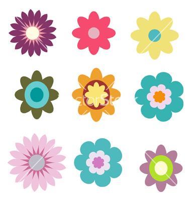 380x400 Flower Vector Clipart