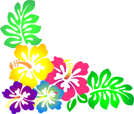 570x486 Hawaiian Flower Clipart