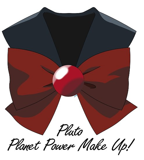 495x550 Sailor Pluto Bow And Collar Posters By Corzamoon Redbubble