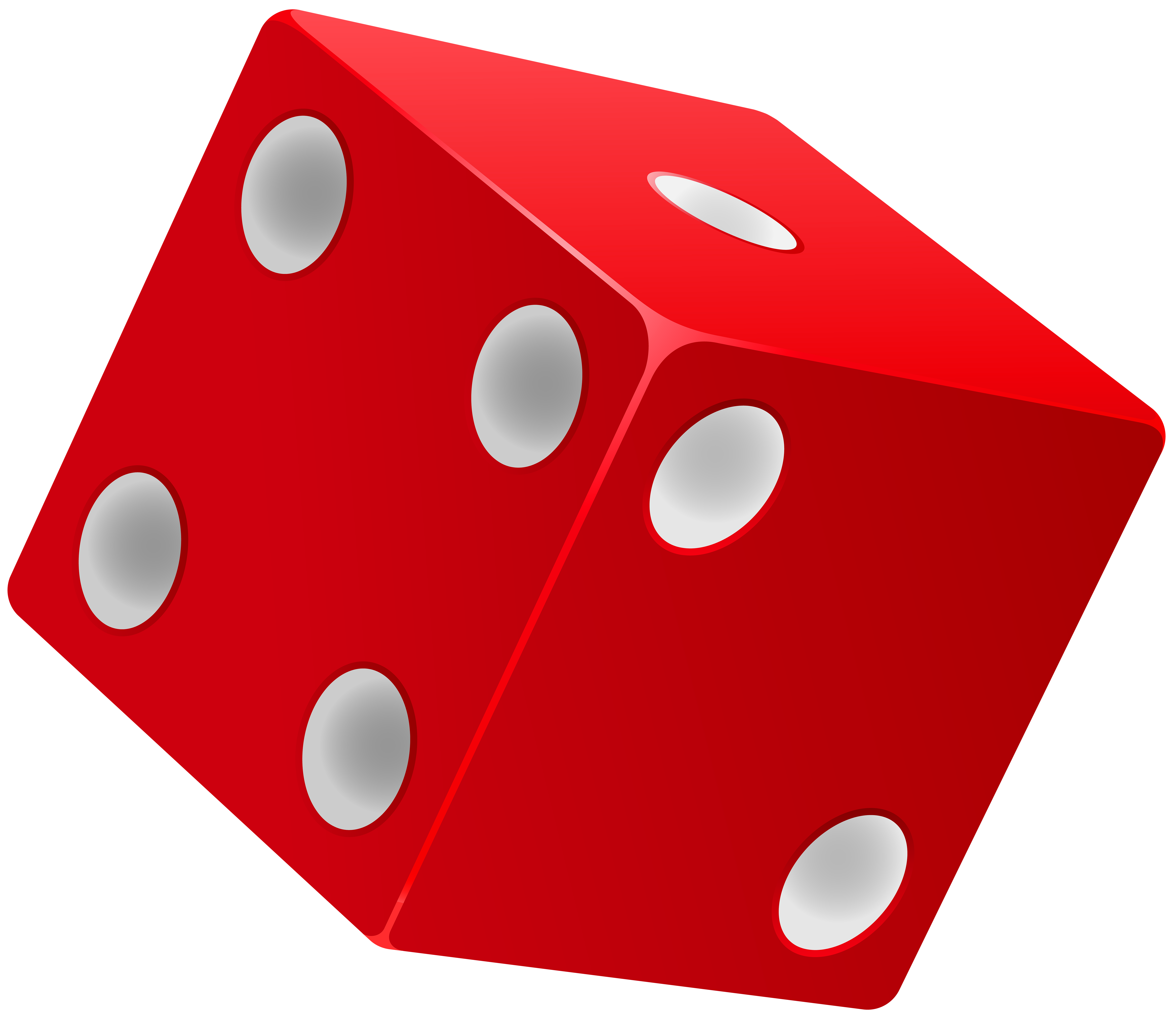 6000x5225 Red Dice Png Clip Art