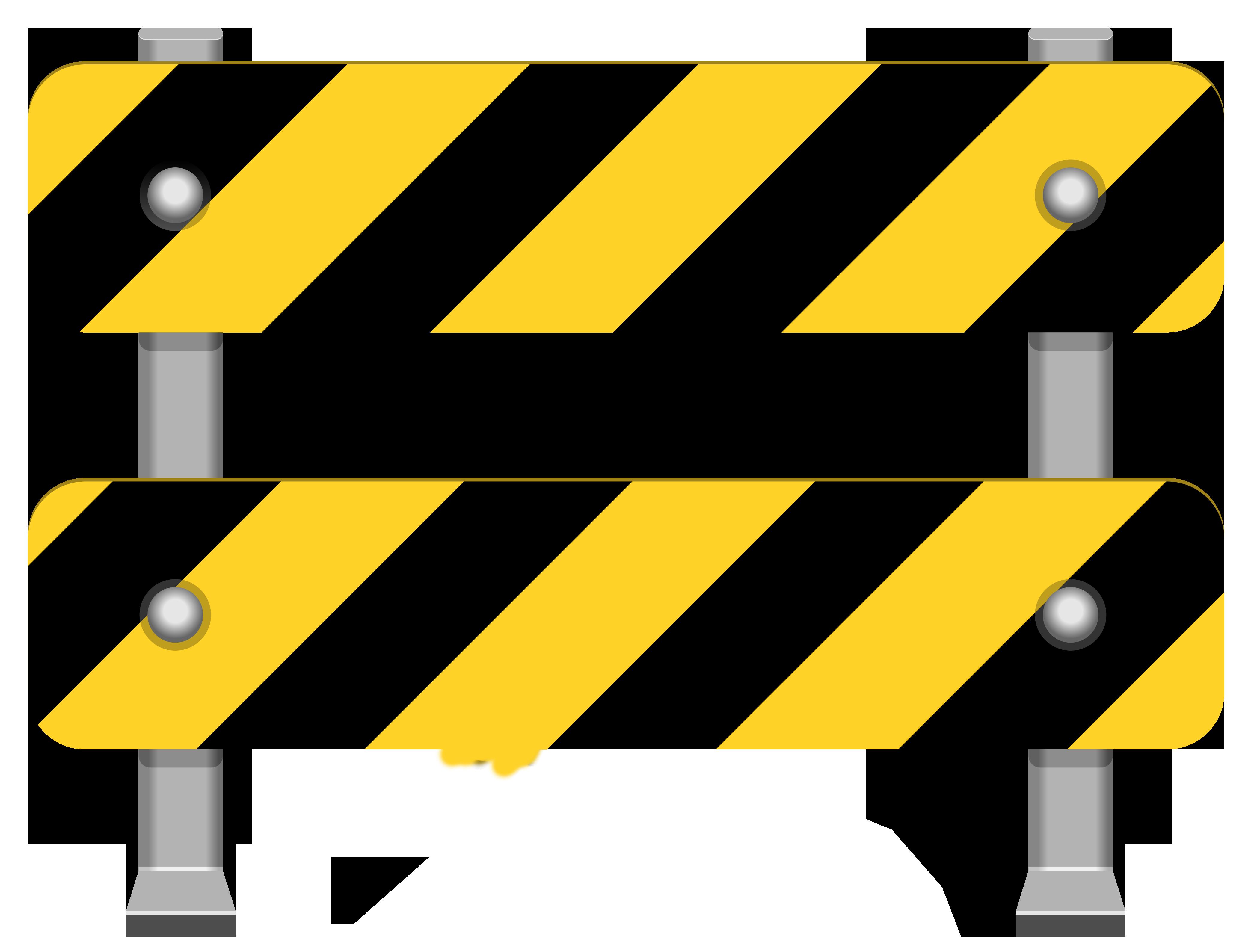 4185x3178 Yellow Road Barricade Png Clip Art