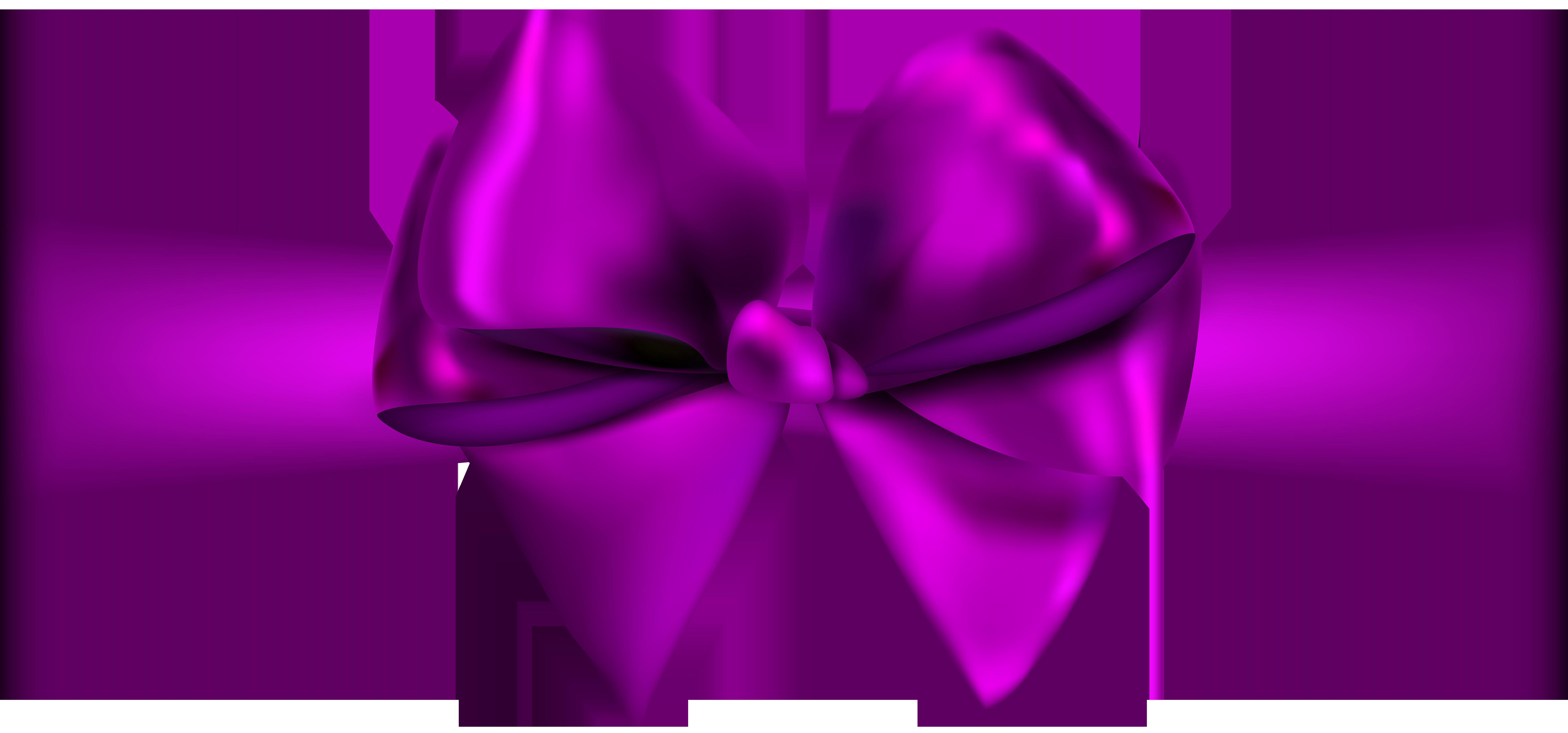 7000x3274 Purple Ribbon Png