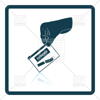 400x400 Hand Holding Evidence Pocket Icon Royalty Free Vector Clip Art