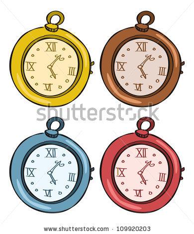390x470 Pocket Watch Clipart Vector
