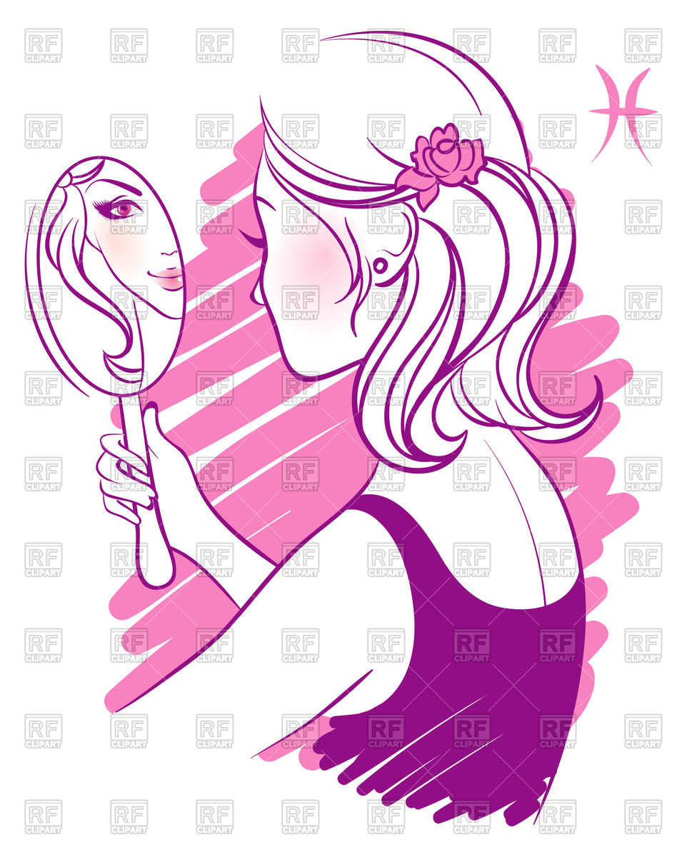 955x1200 Woman With Pocket Mirror In Hand Examines Own Reflection Royalty