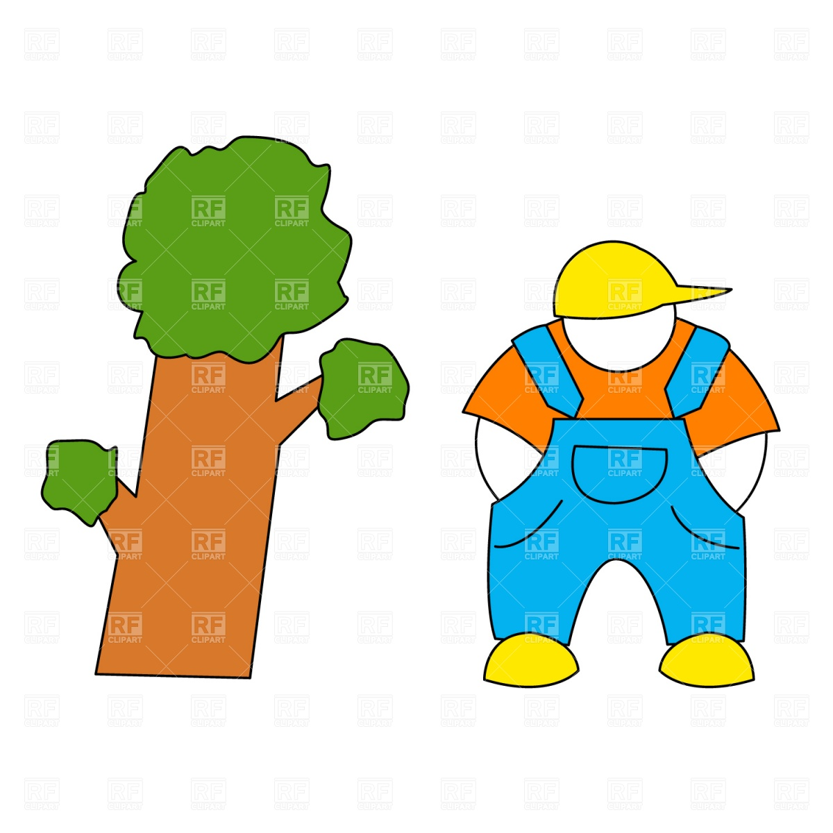 1200x1200 Worker With Hands In Pockets Royalty Free Vector Clip Art Image