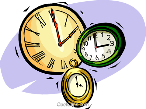 480x358 Pocket Watches And Clocks Royalty Free Vector Clip Art